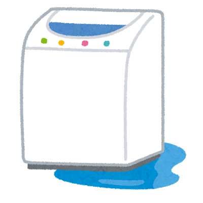 ドラム式洗濯乾燥機の主なトラブル例