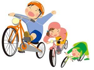 コマなし自転車の練習準備